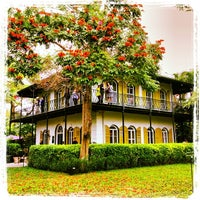 Photo taken at Ernest Hemingway Home & Museum by Peter V. on 1/8/2014