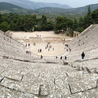 Photo taken at Epidaurus Ancient Theatre by Vassilis B. on 4/23/2013