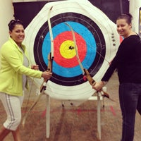 Photo taken at Robin Hood Archery by Sarah R. on 1/26/2013