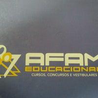 Photo taken at AFAM Cursinhos by Vitor C. on 5/14/2013