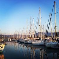 Photo taken at Gouvia Marina Pool by Armin V. on 9/26/2016