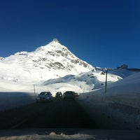 Photo taken at Julier Pass 2284m by Bianca S. on 1/25/2014