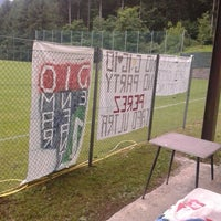Photo taken at Campo Sportivo di Ovaro by Marco F. on 7/2/2014