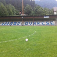 Photo taken at Campo Sportivo di Ovaro by Marco F. on 6/14/2014