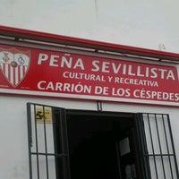 Photo taken at Peña Sevillista Carrión de los Céspedes by @RoCaMan75 on 5/6/2013