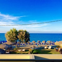 Photo taken at Platanias Mare by Angeliki P. on 10/5/2015
