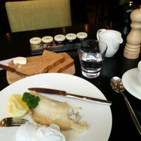 Photo taken at HADRIAN'S brasserie | Balmoral Hotel by Kirill P. on 3/26/2015
