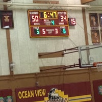 Photo taken at Ocean View High School by Dillon S. on 2/1/2014