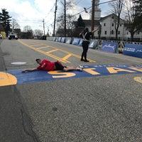 Photo taken at Boston Marathon Start Line by Ashely A. on 4/16/2017