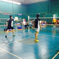 Photo taken at CC Badminton Court by Supinya M. on 2/9/2014
