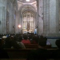 Photo taken at Parroquia de Santiago Apostol by Humberto M. on 5/16/2013