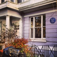 Photo taken at Sylvia Plath Blue Plaque by Rachel on 4/15/2013