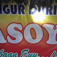 Photo taken at Bajigur Durian Asoy by Dwityo T. on 1/4/2014