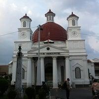 Photo taken at Gereja Blendoeg (GPIB Immanuel Semarang) by ryo k. on 10/24/2012