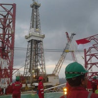 Photo taken at Total Handil II Base by Ilham M. on 8/17/2013
