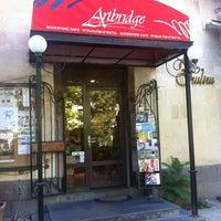 Photo taken at Artbridge Bookstore Café by Jack K. on 5/29/2014