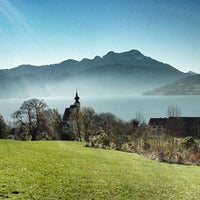 Photo taken at Steinbach am Attersee by Peter B. on 5/15/2013