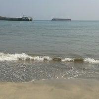 Photo taken at Pantai Kelapa Tujuh by Nur Endah S. on 8/24/2014