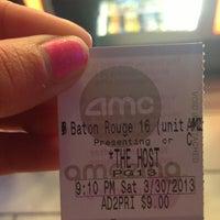 Photo taken at AMC Baton Rouge 16 by Megan J. on 3/31/2013
