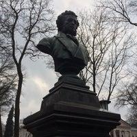 Photo taken at Памятник Пушкину А.С. by Vlad B. on 3/11/2017