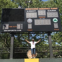Photo taken at Rucker Park Basketball Courts by Davin M. on 5/18/2017