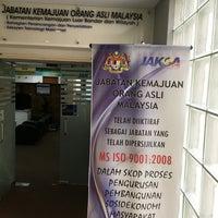 Photo taken at Jabatan Kemajuan Orang Asli by Victor L. on 2/8/2017
