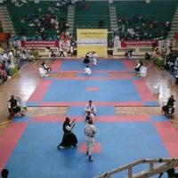 Photo taken at GOR C-Tra Arena by Agung W. on 10/3/2015