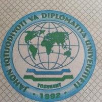 Photo taken at University of World Economy and Diplomacy by SherZod on 3/12/2014
