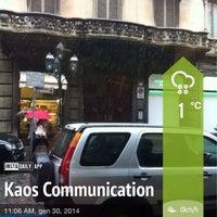 Photo taken at Kaos Communication by Simone Ʃ. on 1/30/2014