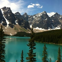 Photo taken at Moraine Lake by Ian G. on 7/7/2013