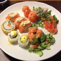 Photo taken at Sushi Express by Rafael S. on 5/12/2013