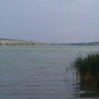 "Photo taken at Пляж ""Aqua"" by Evgeniya P. on 8/7/2014"