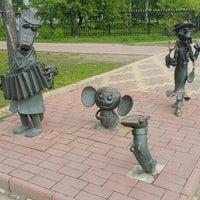 Photo taken at Скульптуры Чебурашка, Крокодил Гена и Шапокляк by Кирилл Р. on 5/23/2015