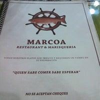 Photo taken at Restaurant Marisquería Marcoa by Cristian B. on 4/29/2013