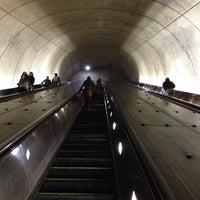 Photo taken at Tenleytown-AU Metro Station by Kevin K. on 12/1/2012