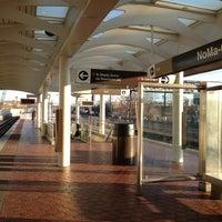Photo taken at NoMa-Gallaudet U Metro Station by Kevin K. on 1/8/2013
