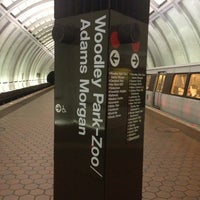 Photo taken at Woodley Park-Zoo/Adams Morgan Metro Station by Kevin K. on 3/20/2013
