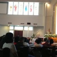 Photo taken at Gereja Katolik Santo Yakobus by Anita S. on 3/30/2013