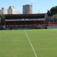 Photo taken at Estádio Conde Rodolfo Crespi by Thomas V. on 2/2/2013