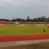 Photo taken at Sam Ao Stadium by Pond P. on 10/20/2013