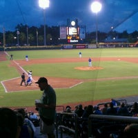 Photo taken at Bragan Field at the Baseball Grounds of Jacksonville by Jeffrey O. on 5/19/2012