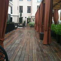 Photo taken at Avia Terrace and Fire Pit by Courtney S. on 4/24/2012