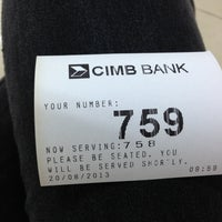 Photo taken at CIMB Bank Berhad, Jalan Kapar by Annie C. on 8/20/2013