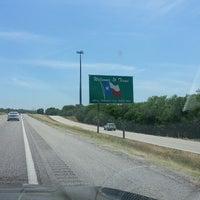 Photo taken at Oklahoma / Texas Border by wutor ♐. on 6/4/2014