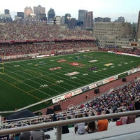 Photo taken at Percival Molson Memorial Stadium by Jonathan N. on 7/4/2013