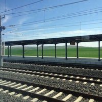 Photo taken at Polatli High Speed Train Station by Kevser Sena C. on 4/13/2013