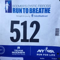 Photo taken at Boomer's Cystic Fibrosis Run to Breathe Starting Line by Duncan M. on 7/12/2014
