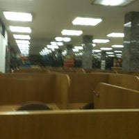 Photo taken at Hesburgh Library by Coley O. on 4/2/2013