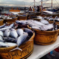 Photo taken at Fish Port Gensan by Marie B. on 3/26/2014