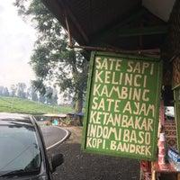 Photo taken at Waroeng Sate Kelinci Ciater by Ask S. on 3/8/2016
